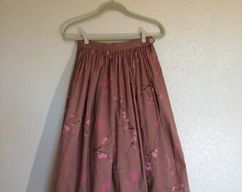 1950's Cherry Blossom Full Skirt