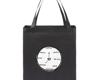 All The Time Black Canvas Tote Bag
