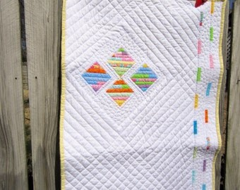 Baby Quilt / Gender Neutral / Custom Quilting / Modern Quilt / Contemporary Quilt / Baby Gift Ideas / Colorful / Handmade / Wall Hanging