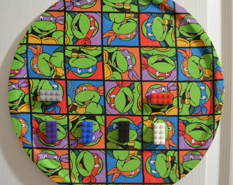 TMNT magnetic hanging decoration with Lego magnets