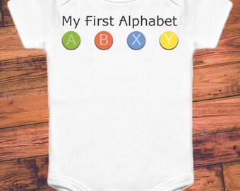 My First Alphabet - XBox - Funny Gamer Baby Onesie