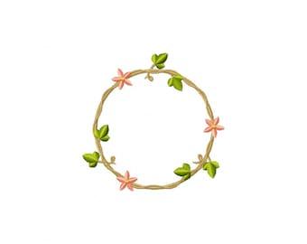 wreath embroidery design, embroidery design wreath, flower wreath embroidery design, embroidery design wreath