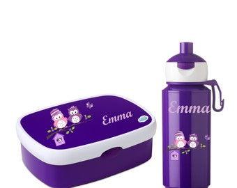 Bread boxes set rosti Mepal: lunchbox + flask campus Pop-Up various colors and motifs