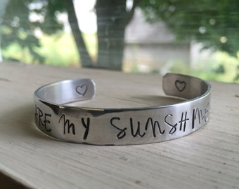 You Are My Sunshine Bracelet - Silver - You Are My Sunshine - Quotes