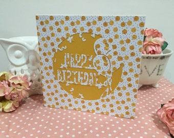 Lemon Confetti Birthday Card