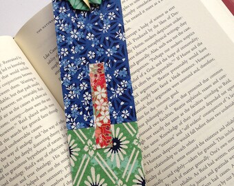 Butterfly Bookmark (green blue pattern)