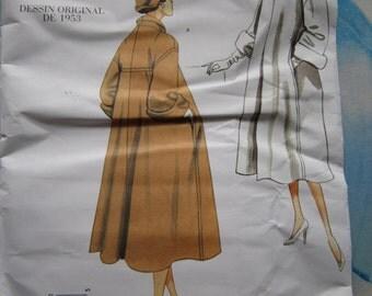 Vogue 1083 Vintage 1953 Reproduction Coat Sewing Pattern 14-20