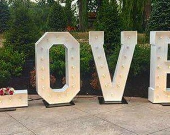 5' Marquee Love sign
