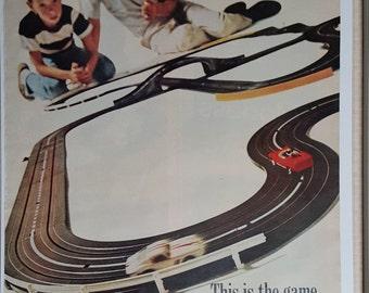 1967 Aurora slot cars original vintage print ad