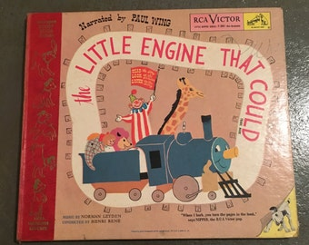 The Little Engine That Could: ( Little Nipper Series #Y-384 ) Story Book and 2 Vinyl Album Set