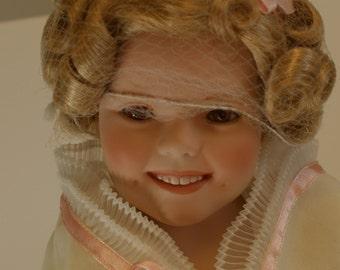 """Shirley Temple """"Flower Girl"""" Porcelain Doll"""