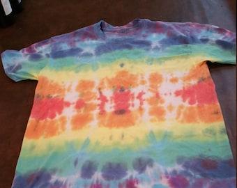 Rainbow Stripe Tie Dye