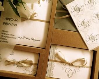 Personal stationery set