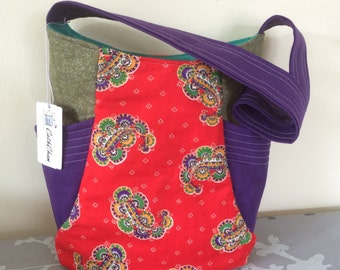 Tote Bag / purse - Paisley design
