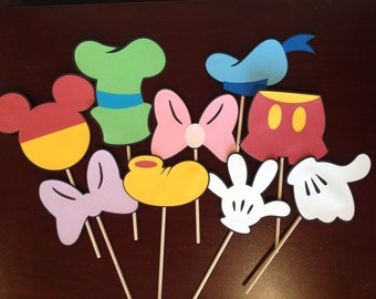 Mickey Mouse Clubhouse 9 Die Cutouts Centerpiece Props