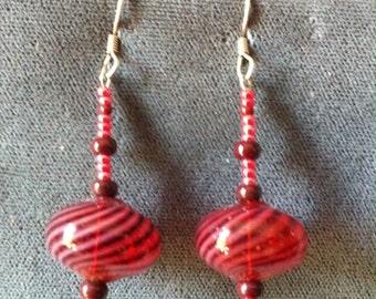 Red glass Swirls