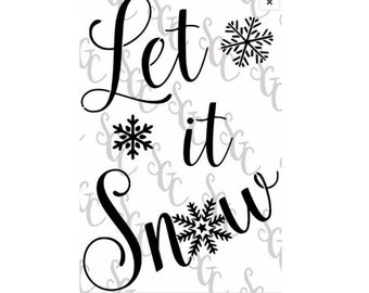 Reusable Stencil - Let it Snow with Snowflakes - 2 sizes to choose from!