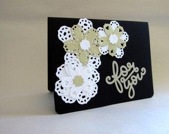 "Handmade ""For You"" Flower Greeting Card"