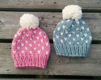 Knit Wool Baby Hat (6-12 months)