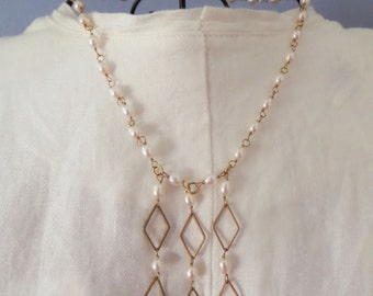 Freshwater Pearl Chandelier Necklace