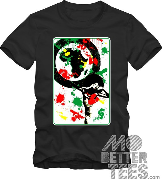 Afrocentric black T-Shirt Graphic Tee RBG Soul Sister African Art