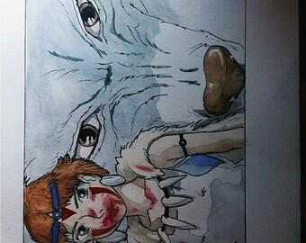 Princess Mononoke (Studio Ghibli) - Print