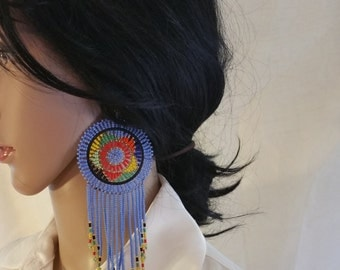Beaded pair of earrings