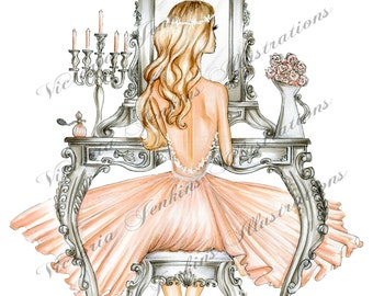 Vanity Table (Fashion Illustration Print)