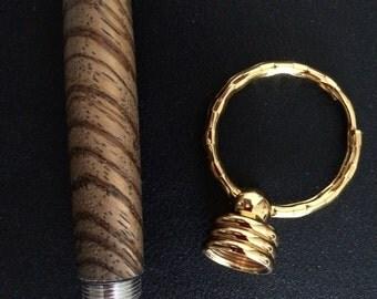 Turned Zebra Wood Toothpick Holder
