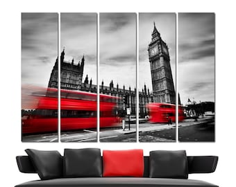 London Canvas Print Wall Art Set Cityscape Canvas Art London Wall Decor London Poster London Canvas Wall Art London Canvas Art Big Ben