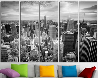 New York Canvas Wall Art Set Cityscape Wall Art New York Canvas Art Cityscape Canvas Print Cityscape Wall Decor New York Poster Wall Decor