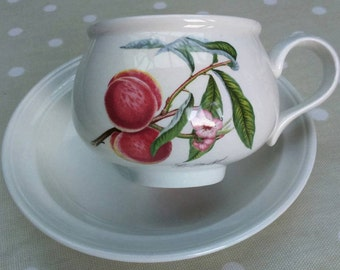 Portmeirion Pomona Breakfast Cup and Saucer 'Grimwoods Royal George' Interior Design BoutiqueByDanielle
