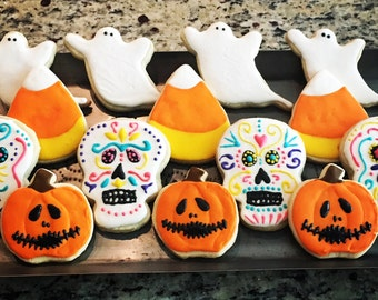 Halloween and Dia de los Muertos Cookies