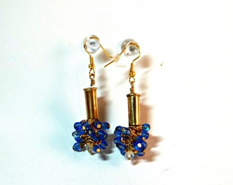 Bullet Jewelry- 22 Caliber-Cluster drop earrings