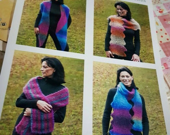 2004 Reynolds #2282 Fusion Scarves Knitting Pattern