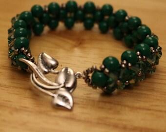 Buttercup in Emerald: Woven Bracelet