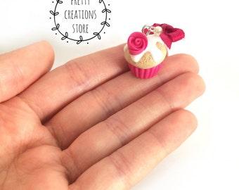 Fuchsia cupcakes earrings