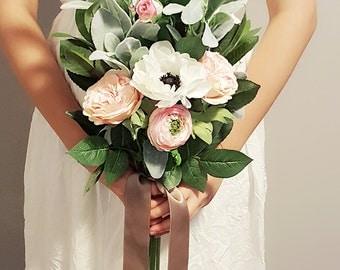 Greenery bouquet, boho bouquet, rustic bouquet, woodland bouquet,silk bouquet, bridal bouquet, wedding bouquet,