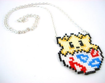 Togepi Necklace - Pokemon Necklace Pokemon Jewelry Pixel Necklace Video Game Necklace 8bit Jewelry Geeky Gifts Anime Necklace