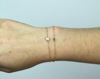 Gold Pendant Bracelet - TinyLittlePiecesShop