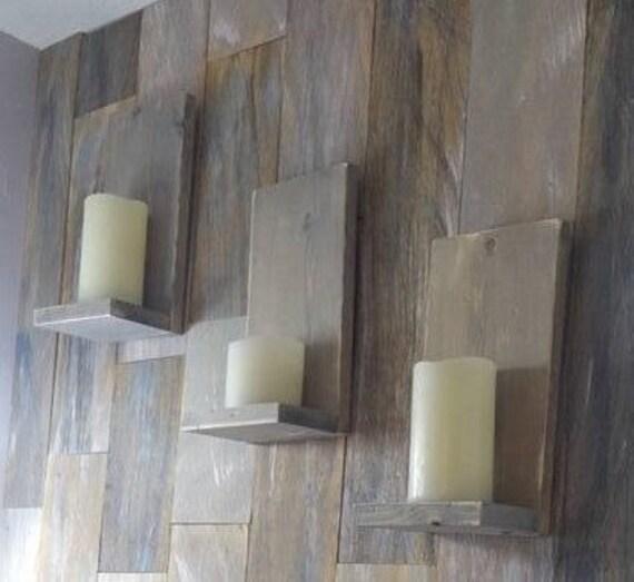 Small Rustic Shelf Wood Shelf Candle Holder Wood Candle