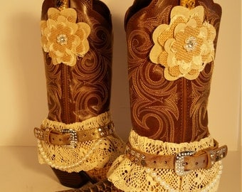 Size 7 B New and Upcycled Durango Brown Snakeskin Print Women's Western Cowboy Boots
