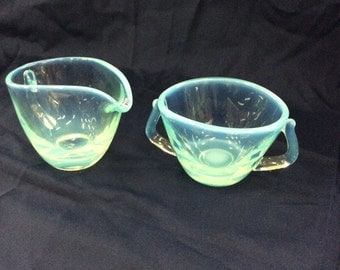 Duncan Miller Seascape sugar and creamer set