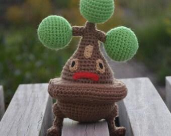 Ready to ship Bonsly Pokemon Crochet Amigurumi Doll