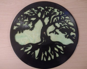 Tree of life custom vinyl record artwork