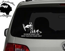 Tie Fighter - Nobody cares about your stick family decal