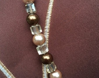 Champagne and Cocoa Necklace