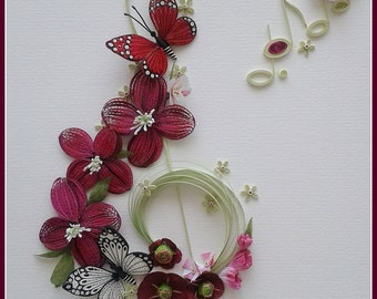 Paper Quilling Wall Art Paper quilling Paper Turtle - Treble Clef Floral Home Decor Paper  sc 1 st  HomeRiview - Blogger.com & Quilling Home Design - HomeRiview