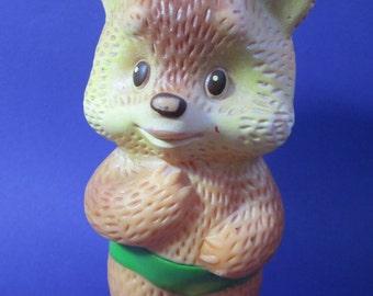 Vintage Rubber Toy Bear Mishka, USSR, Soviet Russia