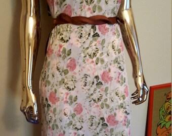Vintage REVERSIBLE floral dress